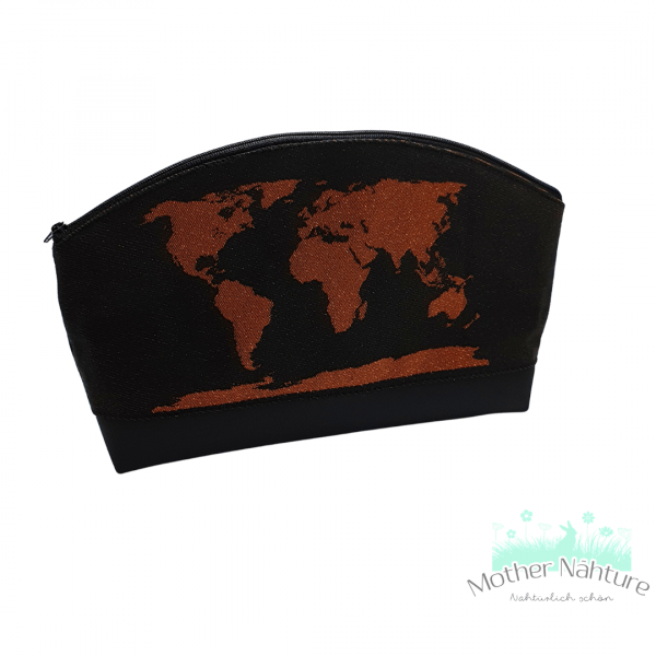 Mittlere Kosmetiktasche mit Rundung mit Tagetuch Colors of the World 3.0